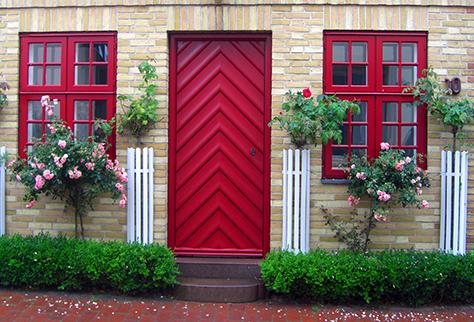 ประตูบ้านทางเข้าโชคลาภ