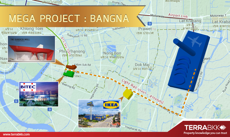 "Mega Project : ""บางนา"" ทำเลทองแห่งอนาคต"