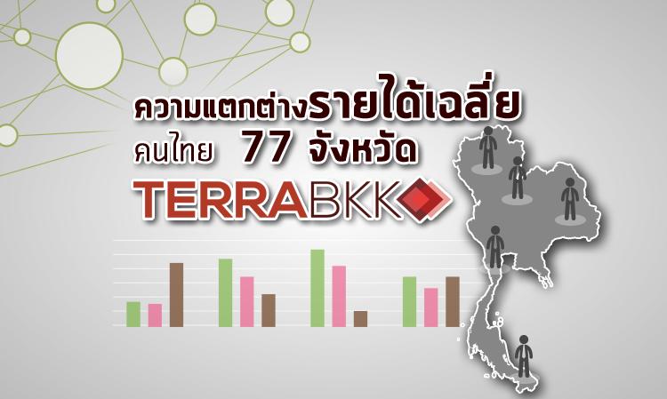 ความแตกต่างรายได้เฉลี่ยคนไทย 77 จังหวัด