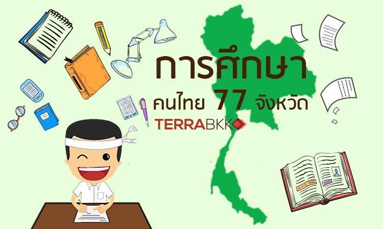การศึกษาคนไทย 77จังหวัด